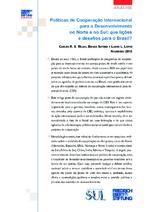 Políticas de cooperação internacional para o desenvolvimento no Norte e no Sul