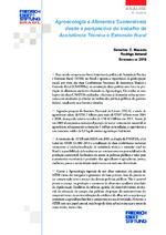 Agroecologia e alimentos sustentáveis desde a perspectiva do trabalho da Assistência Técnica e Extensão Rural