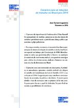 Cénarios para as relações de trabalho no Brasil pós-2016