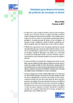 Diretrizes para desenvolvimento de políticas de inovação no Brasil
