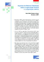 Impactos da reforma trabalhista sobre a organização sindical e a negociação coletiva