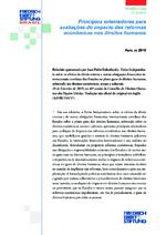 Princípios orientadores para avaliaçńes do impacto das reformas econômicas nos direitos humanos
